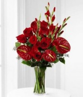 Red Anthu Anniversary Flowers