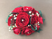 Red baby rose corsage Corsage