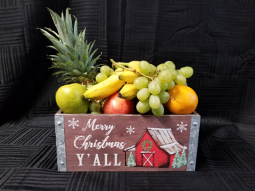 Red Barn Fruit Box Gift Basket