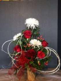 Red Birch Vase Fresh Flower Vase
