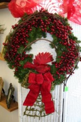 Red Bird Christmas Wreath Artificial Christmas Wreath