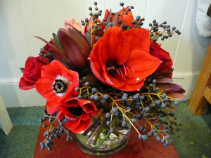 Red & Black  in Easton, CT | Felicia's Fleurs