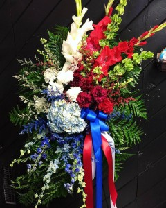 Patriotic Standing Spray 3C Floral Collection  in Spanish Fork, UT | 3C Floral