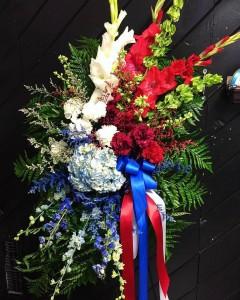 Patriotic Standing Spray 3C Floral Collection