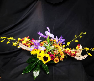 Red Bomb Sunflowers Center Piece in Mountain Home, AR | BOUQUET PALACE