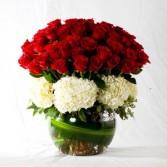 Red Bowl Anniversary Flowers