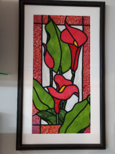 Red Calla lilies Framed Art Gift