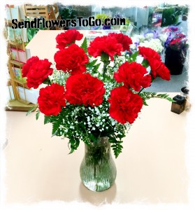 Red Carnation Bouquet In Colorado Springs Co Flowers To Go