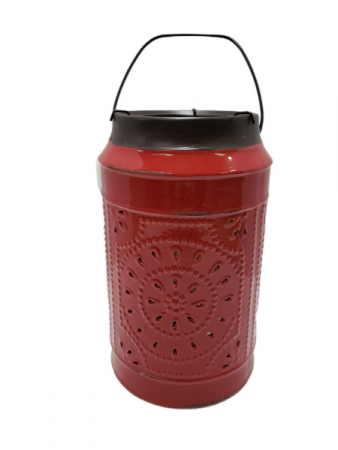 Red Ceramic Candle Holder