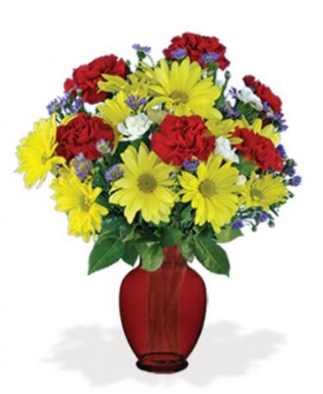 Red Cheerful Vase Vase