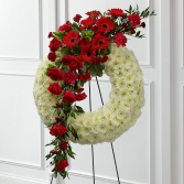 THE CIRCLE OF LIFE AND LOVE WREATH STANDING WREATH