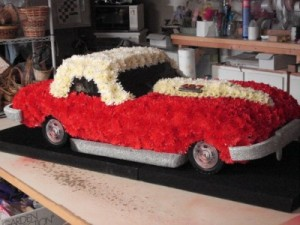 RED CORVETTE FUNERAL in Hazleton, PA | SMILAX FLORAL SHOP
