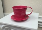 Red Cup & Saucer Coffee Mug