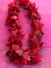 Red Cymbidium Orchid Lei Graduation Lei