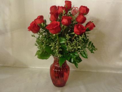 Red Delight Vase Arrangement