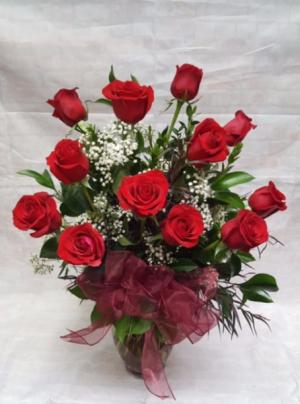Red Dozen Roses  in Davis, CA   STRELITZIA FLOWER CO.