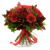 Red Flame Hand-tied