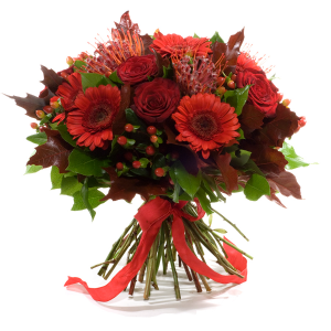 Red Flame Hand-tied in Port Dover, ON | Upsy Daisy Floral Studio
