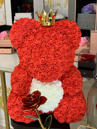 Forever Rose Teddy Bear Red Rose Teddy Bear