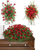 Red funeral package