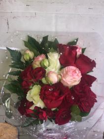 red garden rose arrangement  arrangement