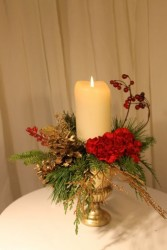 RED & GOLD  Floral Arrangement