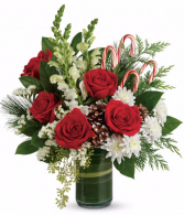 Red, Green & Candy Cane Bouquet christmas
