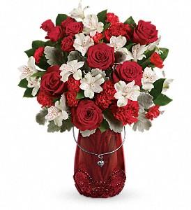 Red Haute Bouquet Teleflora Keepsake Vase