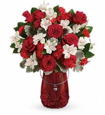Red Haute Bouquet Valentine's day