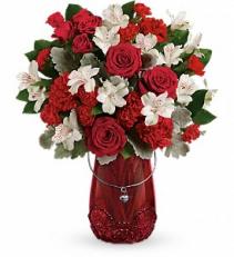 Red Haute Bouquet  Vase Arrangement