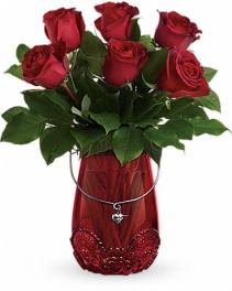 Red Haute Rose Arrangement Rose Arrangement