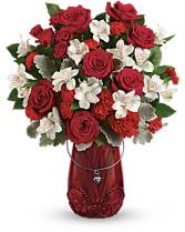 Red Haute Vase Arrangement