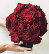 Red Hearts Rose Arrangement