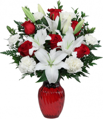 Red Horizons Vase Arrangement