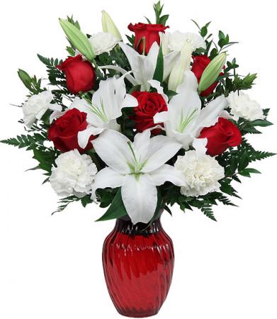 Red Horizons Vase Arrangement In Elkton Md Fair Hill Florist