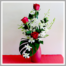 Red Hot Tropic Vase