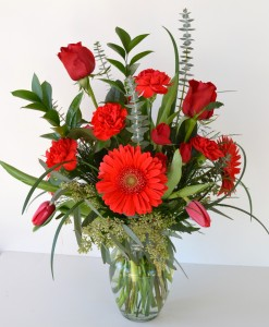 Red Hot Valentine Fresh Arrangement