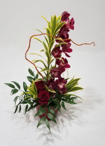 Red Hot Vase Arrangement