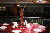 Red in Glass Centerpiece Arrangement