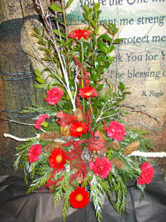 Red is my favorite! funeral arrangement