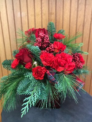 Red & Joyful Bouquet  in Yankton, SD | Pied Piper Flowers & Gifts