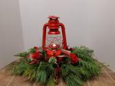 Red Lantern Centerpiece Christmas