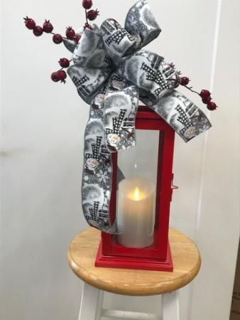 Red Lantern w/ Luminara Candle