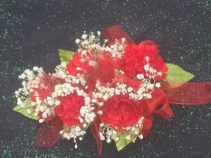 Red Mini Carnation Wrist Corsage FHF-302 ***Pick Up Only***