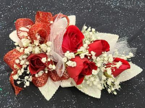 Red Mini Rose Wrist Corsage FHF-202 ****Pick Up only****