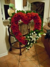 Red Mixed Standing Wreath Funeral Standing