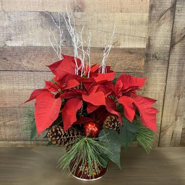 "6"" RED POINTSETTIA"