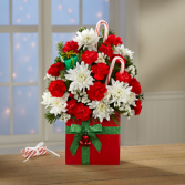 RED PRESENT Vase Arrangement