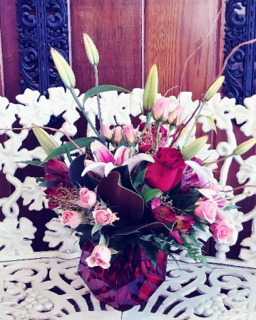 Red Prism Vase