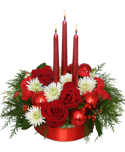 RED REFLECTIONS Holiday Centerpiece